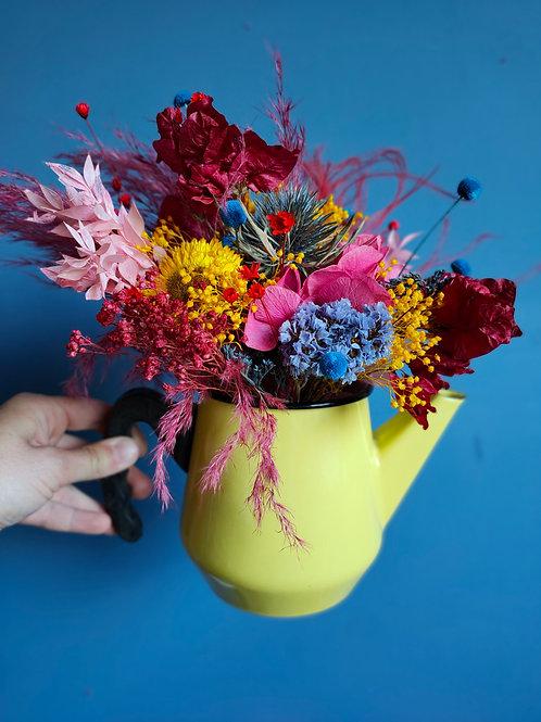 Bouquet de fleurs séchées Albertine & Théière