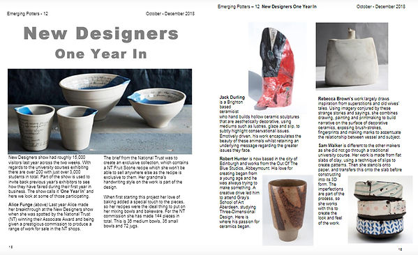 Emerging Potters New Designers