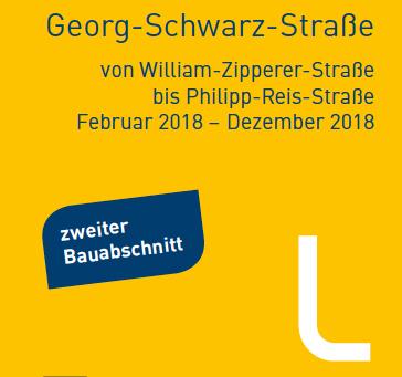 2. Bauabschnitt Georg-Schwarz-Straße startet