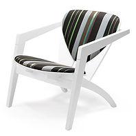 Getama model GE460 Butterfly stol bøg hvidlakeret - tegnet af Hans J. Wegner