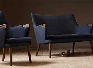 CH71 lounge chair og CH72 sofa tegnet af Hans J. Wegner i 1952 genoptages i produktion af Carl Hanse