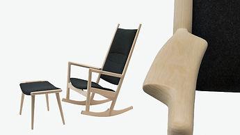 PP-Møbler model PP126 Gyngestolen - tegnet af Hans J. Wegner