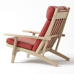 Getama model GE375 stol set bagfra - tegnet af Hans J. Wegner