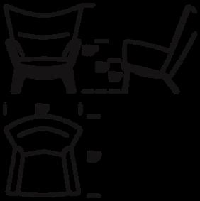 CH445 Wing Chair mål