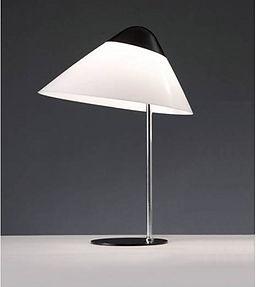 Opala mini bordlampen med sorttop og fod