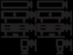 Mål på CH825 credenza tegnet af Hans J. Wegner