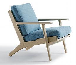 Getama model GE290 lav stol - tegnet af Hans J. Wegner