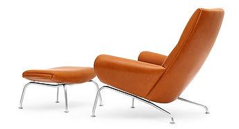 Hans J. Wegner Queen-Chair med Skammel
