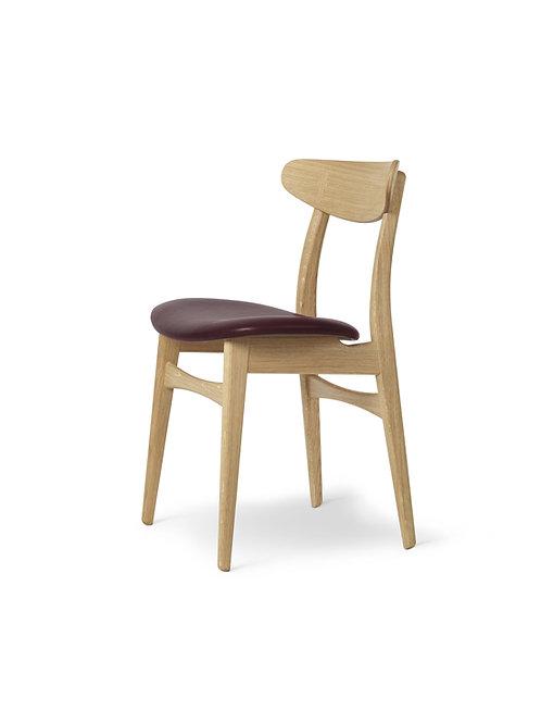 Hans J. Wegner CH30P | stol eg sæbe med sort Thor semianilin læder
