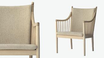 Stolen har en sæde- og ryghynde