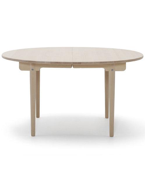 CH337 | spisebord eg sæbe med 2 plader i sort lakeret mdf  | 115x140 (260) cm