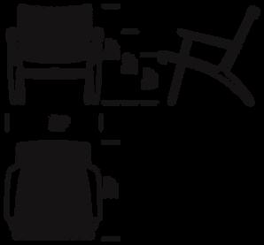 CH25 loungestol mål