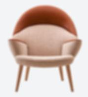 PP-Møbler model PP521 Polstret Påfugle stol - tegnet af Hans J. Wegner