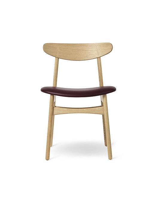Hans J. Wegner CH30P | stol eg olie med sort Thor semianilin læder