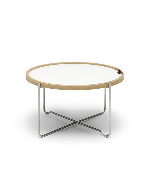 CH417 | Bakkebordet sort-hvid laminat / eg olie