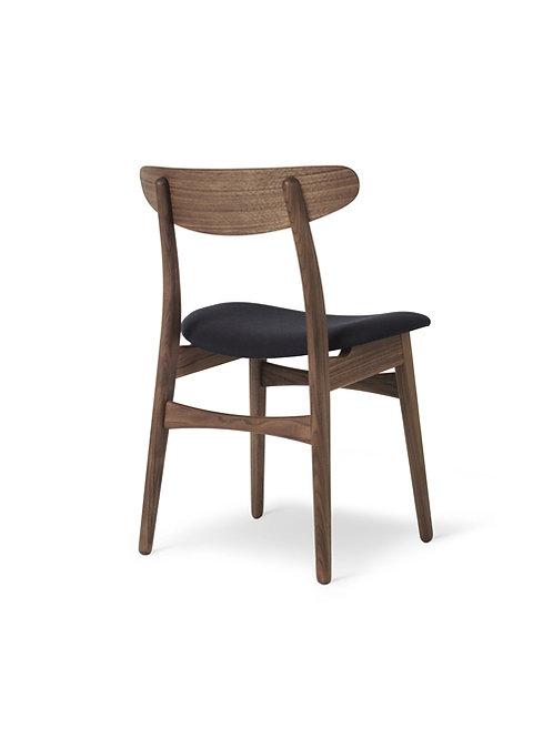 Hans J. Wegner CH30P | stol valnød olie med sort Thor semianilin læder