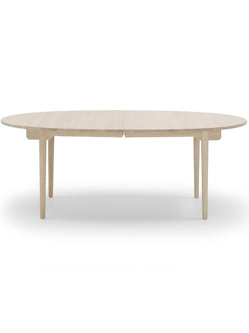 CH338 | spisebord eg sæbe med 2 plader i sort lakeret mdf | 115x200 (320) cm