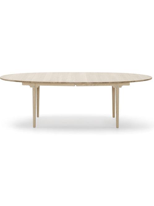 CH339 | spisebord eg sæbe med 2 plader i sort lakeret mdf | 115x240 (360) cm