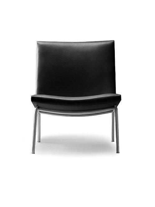 CH401 | loungestol sort Thor læder