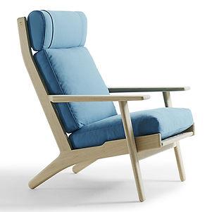 Getama model GE290A høj stol - tegnet af Hans J. Wegner