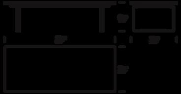 CH108 sofabord mål