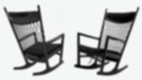 PP-Møbler model PP124 Gyngestolen i eg sort lakeret - tegnet af Hans J. Wegner