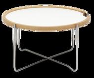 CH417 bakkebordet her vist med hvid laminat plade der er vendbar