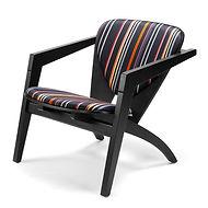 Getama model GE460 Butterfly stol eg sortlakeret - tegnet af Hans J. Wegner