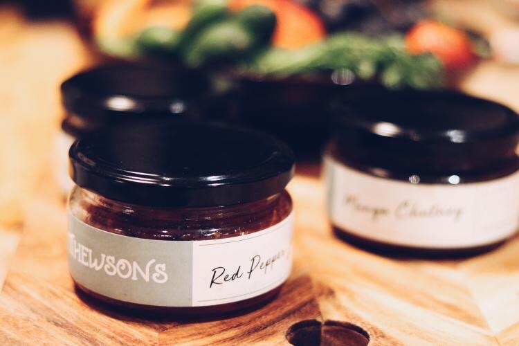 red pepper jam jar