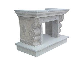 cheminée en granit