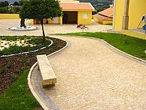 Colocação de chão em granito