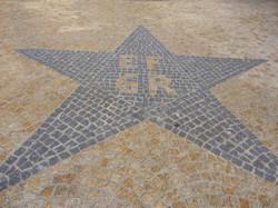 Motif en pavé granit