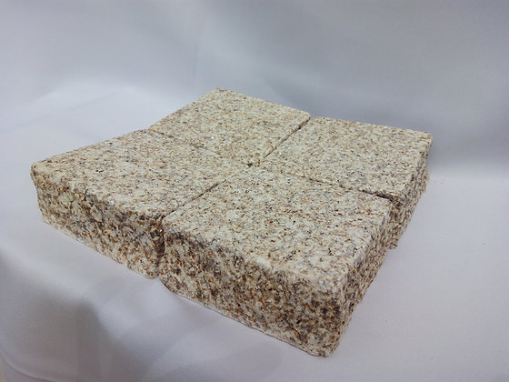Palette de pavé granit jaune scié sablé - 10m2