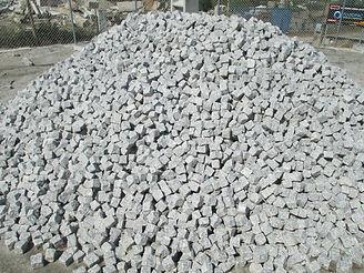 Pavé en granit gris