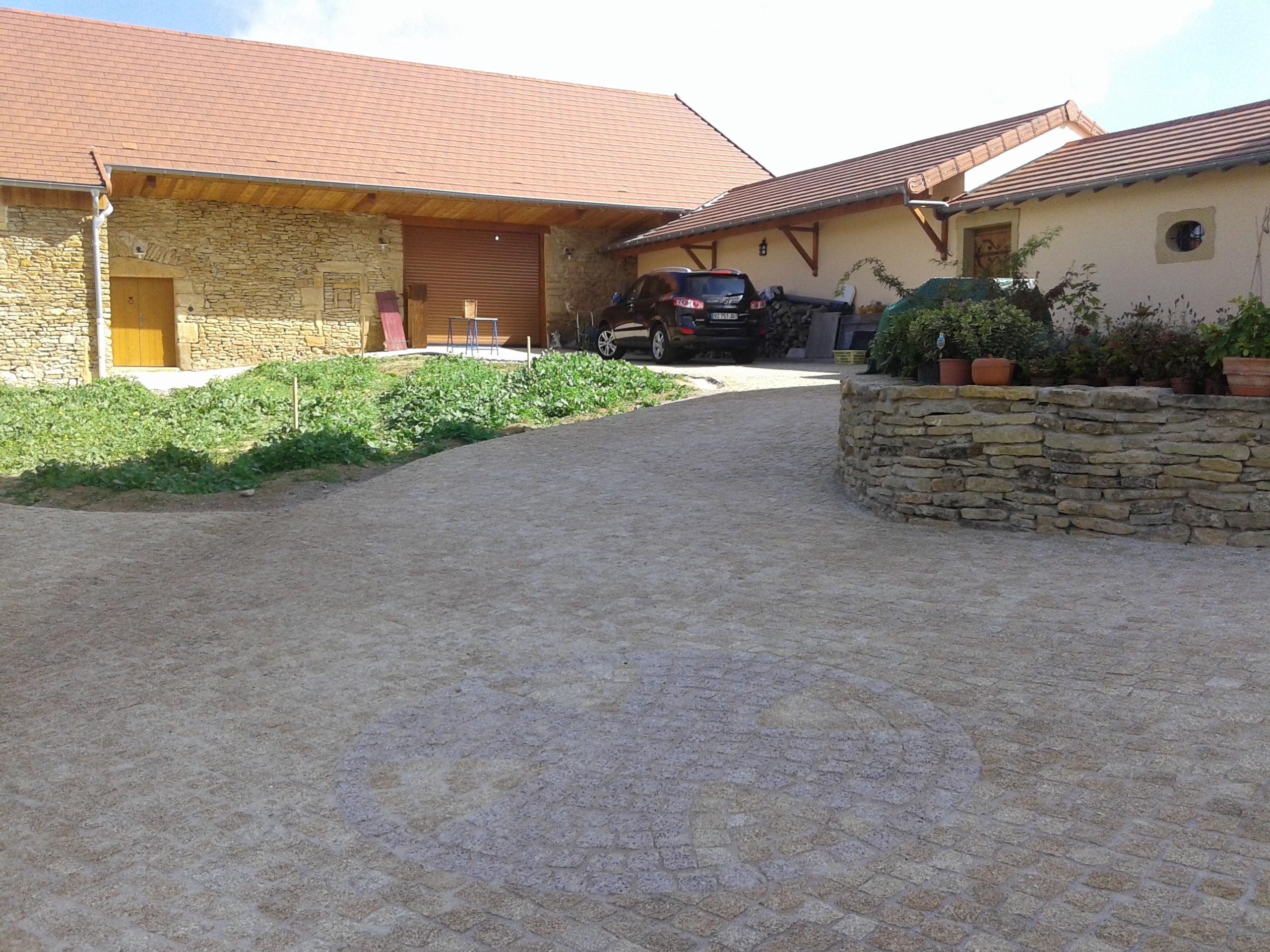Entrée de maison en granit