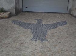 Aigle en granit
