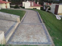 Marche d'escalier en pavé granit