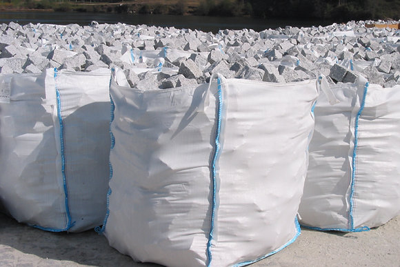 1 Sac pavé granit gris clair - environ 12m2