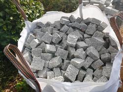 pavé granit gris clair