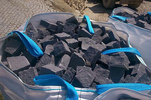 1 Sac pavé granit noir - environ 12m2