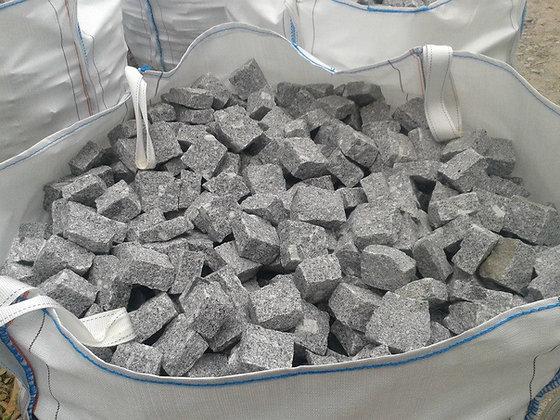 1 Sac de pavé granit gris/bleu - environ 12.5m2