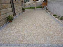 Surface en pavé granit