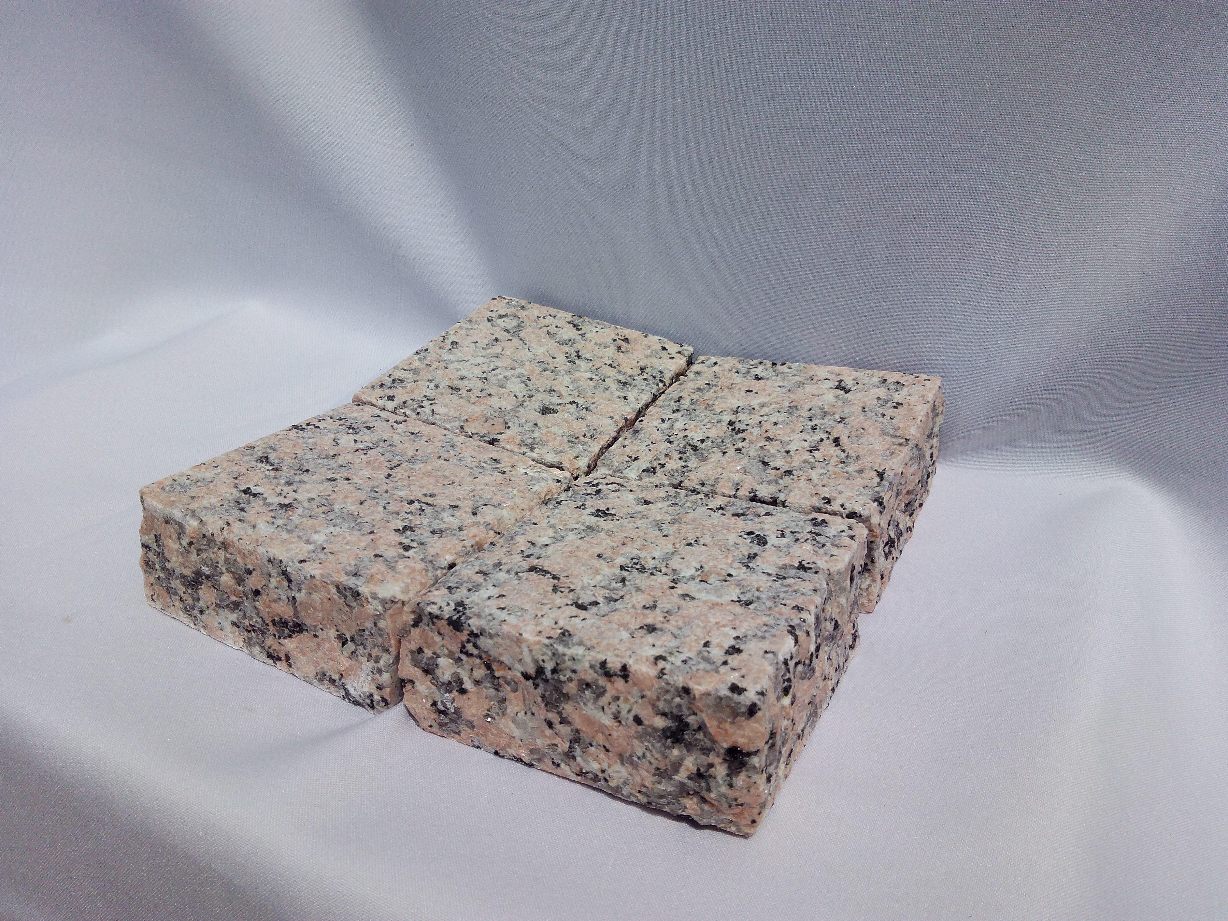 Pavé granit rose