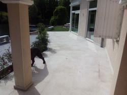 Terrasse en dalle de granit jaune