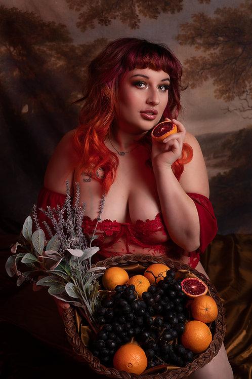 12x18 Poster : Blood (Red) Orange