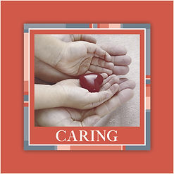 H&D Core Values 60x60mm Sticker-CARING.j