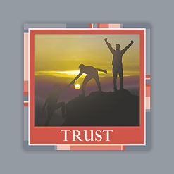 H&D Core Values 60x60mm Sticker-TRUST.jp