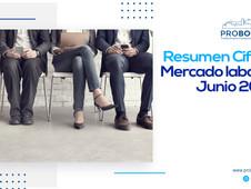 Resumen Cifras Mercado laboral Junio 2021