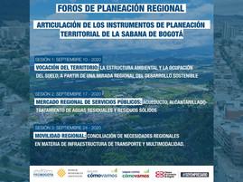 #ForosProBogotá Articulación de los instrumentos de planeación territorial de la sabana de Bogotá