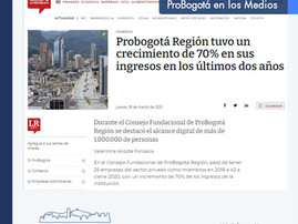 Probogotá Región tuvo un crecimiento de 70% en sus ingresos en los últimos dos años